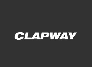 Clapway - logo black and white